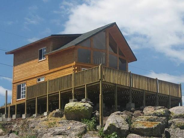 Construcci n de caba as casas de madera chalets de - Casas de madera santa clara ...